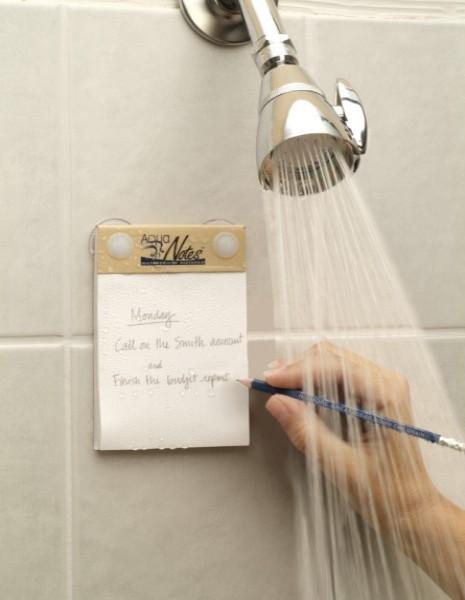 Schreiben unter der Dusche!